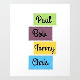 Replacements Band Paul Bob Tommy Chris Mats Art Print