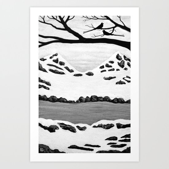 Scissortail Winter Art Print