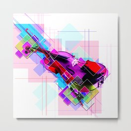 Sounds of music. Violin. Metal Print