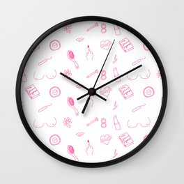 Girl Stuff Wall Clock