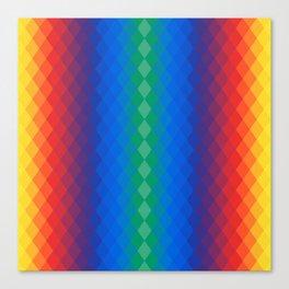 Rainbow rombs Canvas Print
