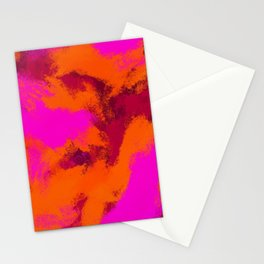 Pink and Orange Paint Texture Stationery Cards