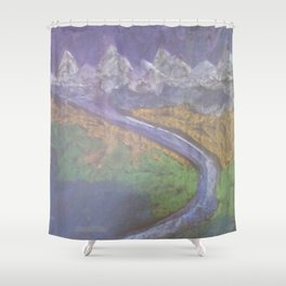 The Himalaya and The River Ganges II Shower Curtain