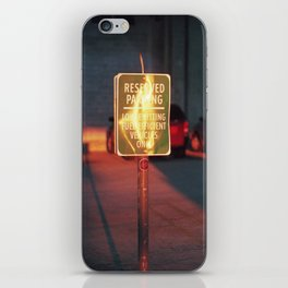 reserved parking iPhone Skin