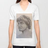 eddie vedder V-neck T-shirts featuring Eddie A1 by Brandon Blair
