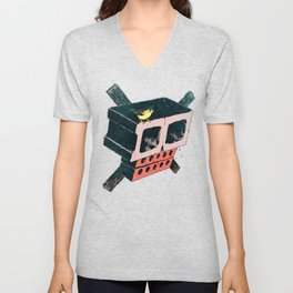 Brick Crossbones and a Bird Unisex V-Neck
