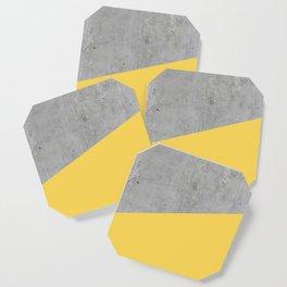 Concrete and Primrose Yellow Color Coaster