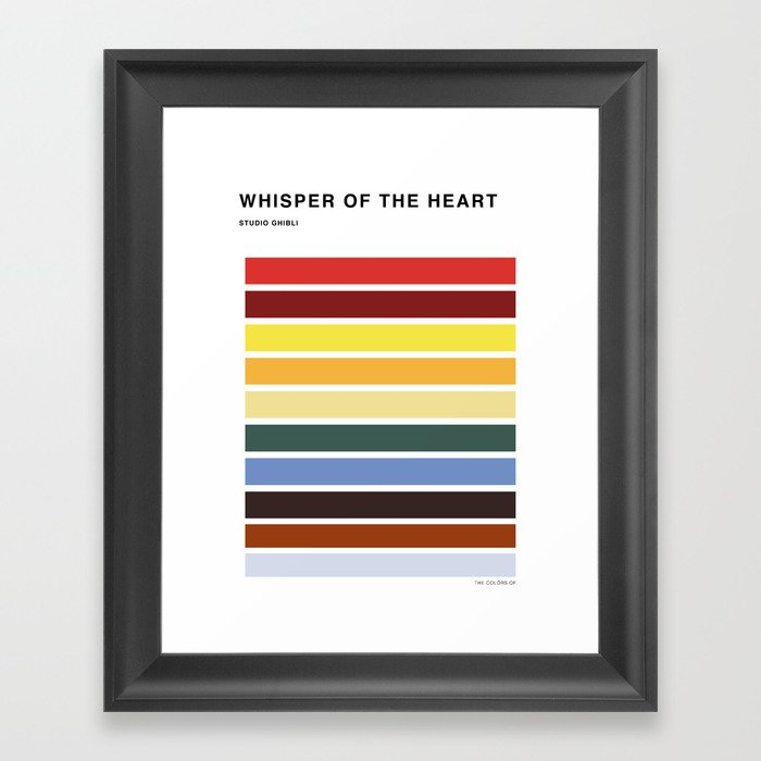 The colors of - Whisper of the heart Framed Art Print