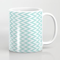Teal Blue Chevron Mug