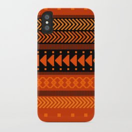 Under the Volcano - tribal geometrics iPhone Case