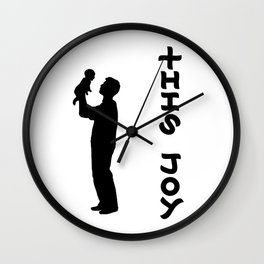 THIS JOY ambigram (turn your head 90 degrees :) Wall Clock