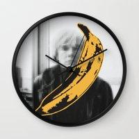 velvet underground Wall Clocks featuring Warhol Underground by NoHo
