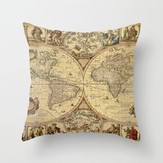 The puzzled world Throw Pillow