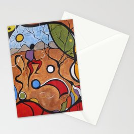Crazy Rain Dance Colorful Stationery Cards