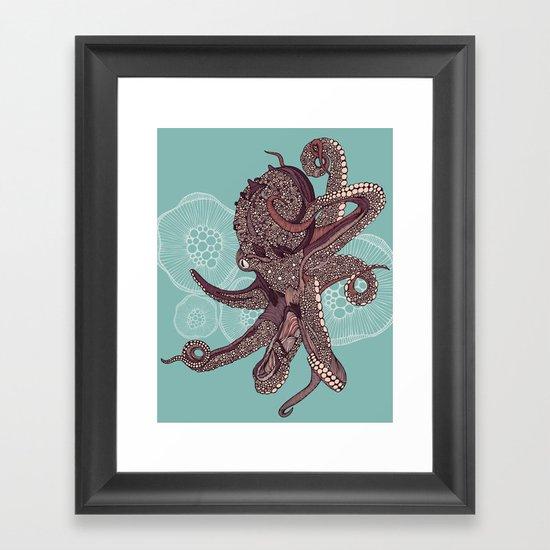 Octopus Bloom Framed Art Print