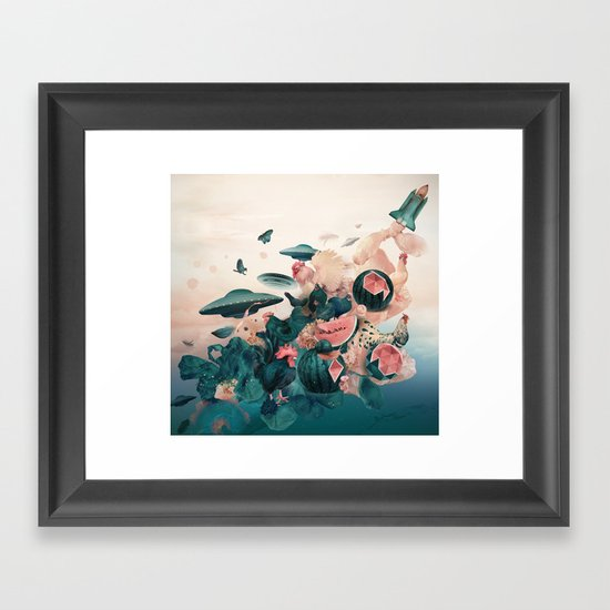 Watermelon&Black cock Framed Art Print
