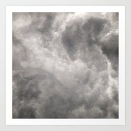 #268 Stormy African Clouds Art Print