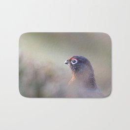 red grouse (Lagopus lagopus scotica) Bath Mat