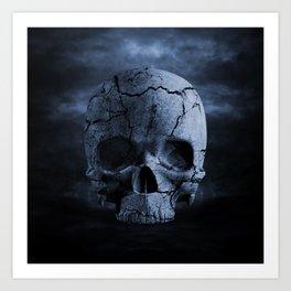 Gothic Skull Art Print
