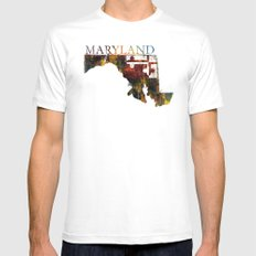 Maryland Mens Fitted Tee MEDIUM White