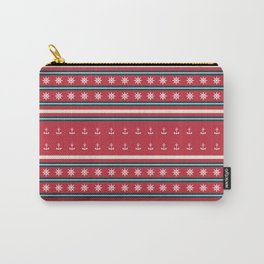 Ships Ahoy Red/Blue Stripe Carry-All Pouch