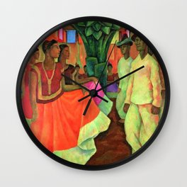 Dance in Tehuantepec by Diego Rivera Wall Clock