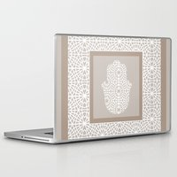 islam Laptop & iPad Skins featuring Hamsa in morrocan pattern by NoMoreWinters