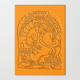 Ren And Stimpy Polynesian tribal Canvas Print