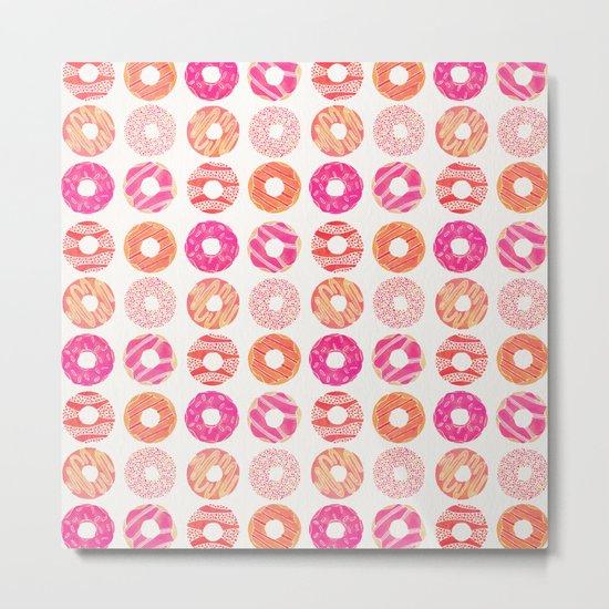 Half Dozen Donuts – Pink & Peach Ombré Metal Print