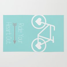 Ride Your Heart Out -  Bike Bicycle Love Rug