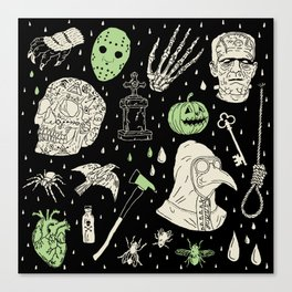 Whole Lot More Horror: BLK Ed. Canvas Print