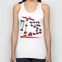 donkey kong Tank Tops featuring Inside Donkey Kong stage 3 by Metin Seven