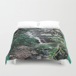 One Half of Twin Falls Duvet Cover