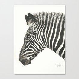 Zebra in Watercolor Canvas Print
