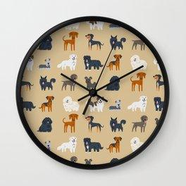 EASTERN EUROPEAN DOGS Wall Clock