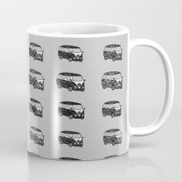 Grey camper pattern Coffee Mug