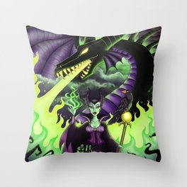 Mistress of All Evil Throw Pillow