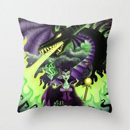 Mistress of All Evil Throw Pillow