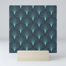 Seamless peacock pattern Mini Art Print