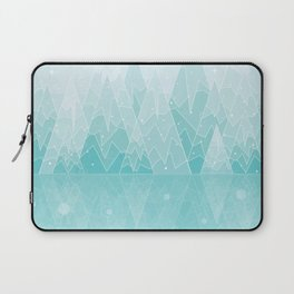 Geometric Lake Mountain IV - Winter Laptop Sleeve
