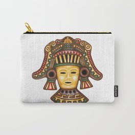 Clay Mayan Mask Carry-All Pouch