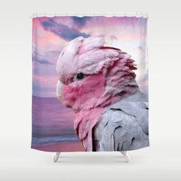 Pink Galah Cockatoo Shower Curtain