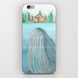 She knows he's there iPhone Skin