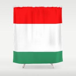 flag of hungary  3 -hungary, hungarian, magyar,Magyarország, hungria,Budapest Shower Curtain