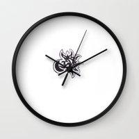 karma Wall Clocks featuring Karma by PoeticKeys