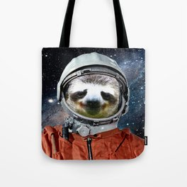 Astronaut Sloth Tote Bag