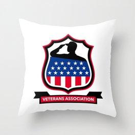 American Veteran Shield Icon Throw Pillow