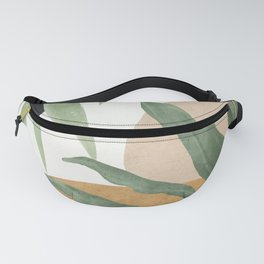 Abstract Art Tropical Leaves 4 Fanny Pack