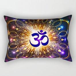 """""""The higher power of Om"""" - sacred geometry Rectangular Pillow"""