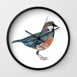 Typographic Sparrow Wall Clock